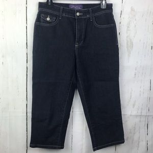 Not Your Daughters Jeans Dark Denim Capris NYDJ